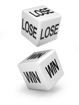 win lose white dice