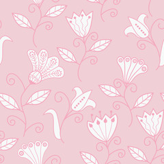 Seamless texture with flowers. Endless floral pattern. Seamless