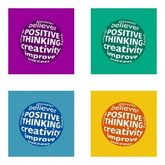 positive thinking - flat design - trend cololors