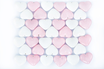 Colorful heart chocolate candy
