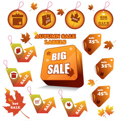 Autumn sale labels