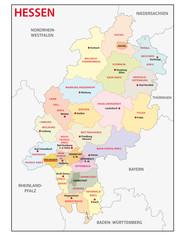 Wall Mural - Hessen, Landkreise