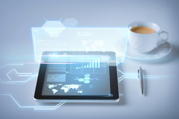 tablet pc and virtual screen