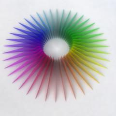 colorful rainbow stripes around free center