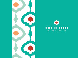 Vector colorful chain ikat frame horizontal seamless pattern