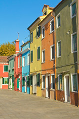 Color houses in Venice island Burano (Italy) .