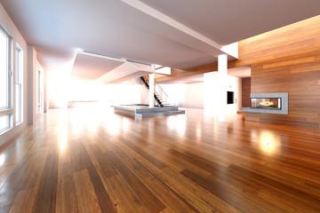 Obraz Empty Loft - fototapety do salonu