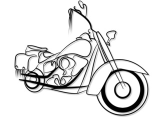 Fototapete - klassisches Motorrad - Tribal