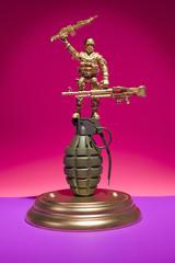 Soldier Grenade Display
