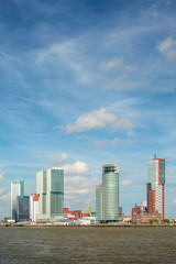Cityscape of the Dutch city Rotterdam