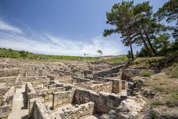ancient ruins of kamiros in Rhodes, Greece