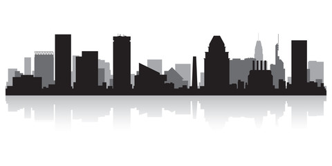 Fototapete - Baltimore city skyline silhouette