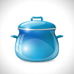 blue kitchen pot