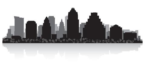 Wall Mural - Austin city skyline silhouette
