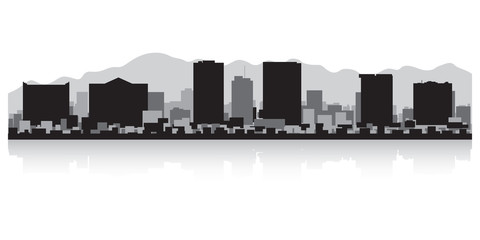 Wall Mural - El Paso city skyline silhouette
