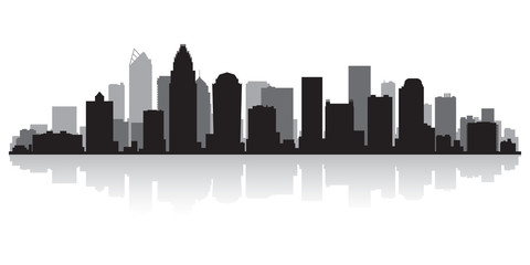 Wall Mural - Charlotte city skyline silhouette