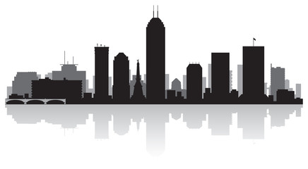 Wall Mural - Indianapolis city skyline silhouette
