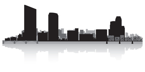Fototapete - Grand Rapids city skyline silhouette