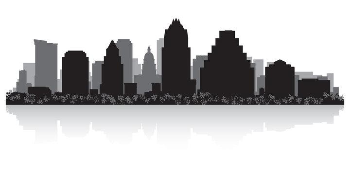 Austin city skyline silhouette