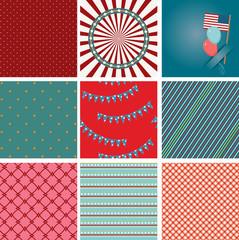 Nine 4th of July seamless wallpaper