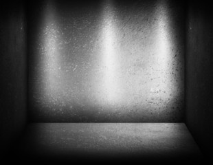 concrete wall with spotlights