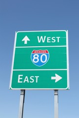 Interstate 80 Direction Sign