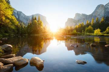 Photo sur Plexiglas Parc Naturel Yosemite valley