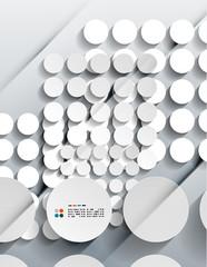 Vector 3d paper circles modern design