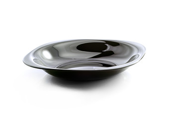 Empty black dish