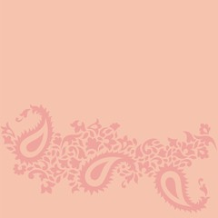 wedding card design, paisley floral design , India