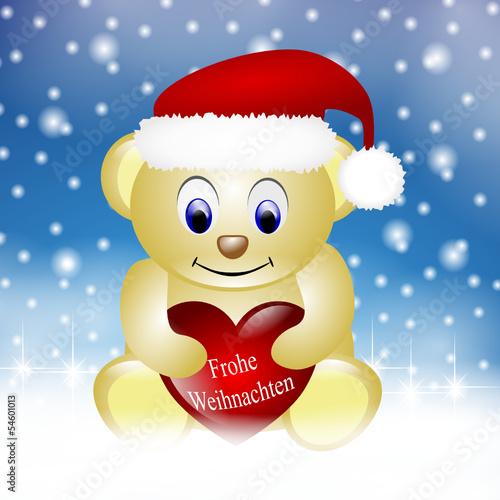 Teddy Weihnachten.Frohe Weihnachten Teddy Hintergrund Stockfotos Und Lizenzfreie
