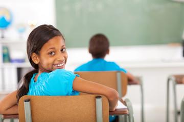 primary school girl in classroom