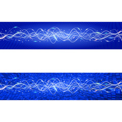 "Flying wave backgrounds. The blue version. Variant ""B"". EPS-10"