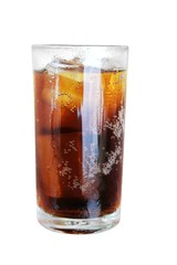 cola glass isolated