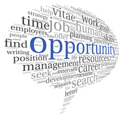 Opportunity concept in word cloud