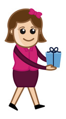 Celebrate with Gifts and Presents - Cartoon Business Character