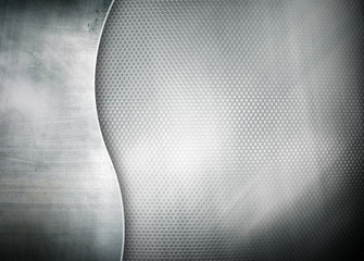metal template with curve pattern