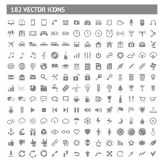 182 icons and pictograms set
