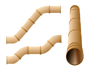 Water slide or pipe set in different positions
