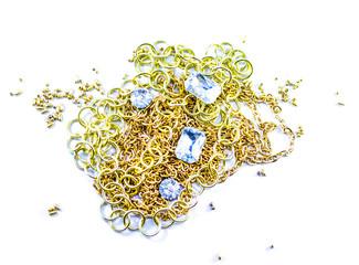 Golden chain and diamond