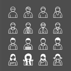 human Icons set. Vector illustration.