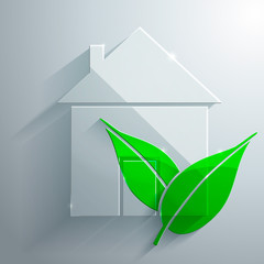 Glass Icon of EcoHouse
