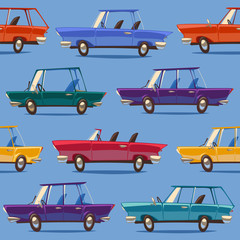Cars. Seamless pattern