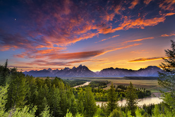 Summer Sunset at Snake River Overlook