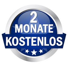 """Button mit Banner """" 2 MONATE KOSTENLOS """""""