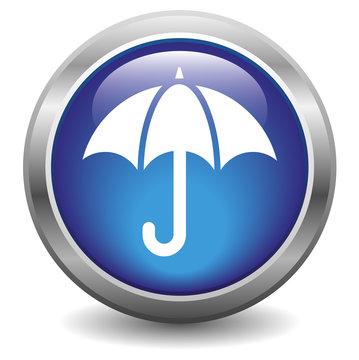 Umbrella icon blue