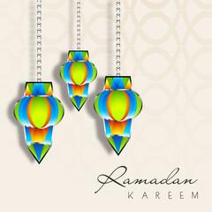 Holy month of Muslim community Ramadan Kareem background.
