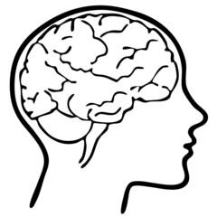 Kopf Gehirn Silhouette Vektor