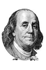 Benjamin Franklin (head to the left)
