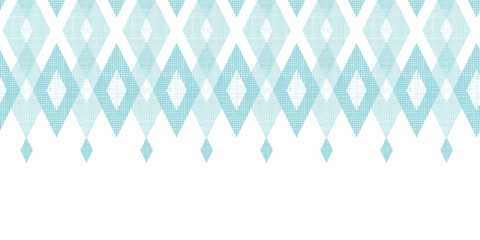 Vector pastel blue fabric ikat diamond horizontal seamless